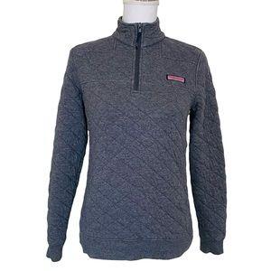 Vineyard Vines Allover Quilted Shep Shirt Gray Sweatshirt